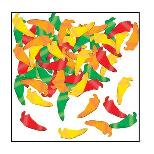 Fanci Fetti Chili Peppers Disposable Decorative Plaque (Set of 12)