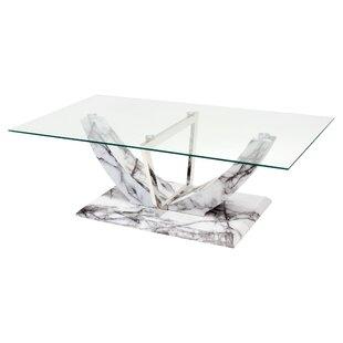 Material Coffee Table.Glass Top Display Coffee Table Wayfair Co Uk