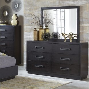 Broadnax 6 Drawer Double Dresser with Mirror by Union Rustic