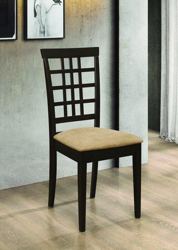 Red Barrel Studio Wilson Upholstered Side Chair in Tan (Set of 2)