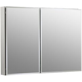 Shopping for Aluminum Two-Door Medicine Cabinet with Square Mirrored Doors By Kohler
