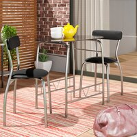 Deals on Ebern Designs Paugh Space Saver 3 Piece Dining Set
