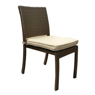 Suai Stacking Patio Dining Chair With Cushion (Set Of 4) by Brayden Studio Today Only Sale