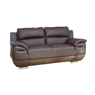 Renata Genuine Leather 2 Seater Sofa By Ebern Designs