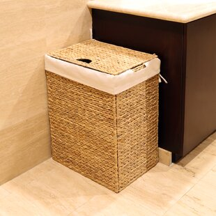 Seville Classics Foldable Wicker Laundry Hamper