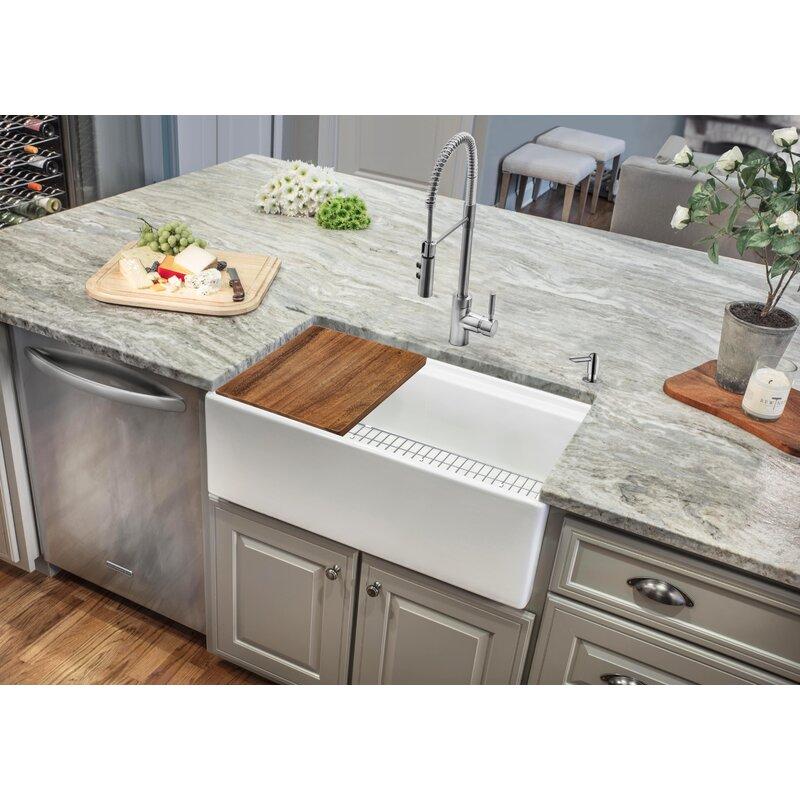 Soleil 30 L X 19 W Farmhouse Kitchen Sink Reviews Wayfair