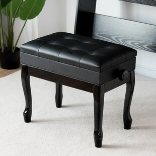 Cirebon Height Adjustable Upholstered Storage Piano Bench