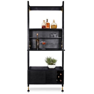 Lowes Shelving Unit Bar with Wine Storage by Brayden Studio