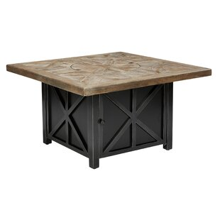 Crenshaw Outdoor Aluminum Gas Fire Pit Table