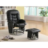 Arvia Manual Glider Recliner with Ottoman by Latitude Run®