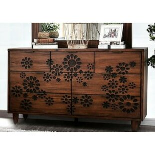 Casswell Transitional Solid Wood 7 Drawer Double Dresser