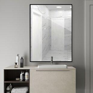Black Trim Bathroom Mirror Wayfair Ca