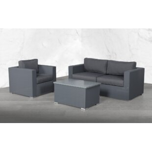 Fry Modular 4 Piece Sofa Seating Group with Cushions