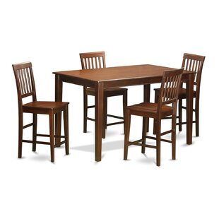 5 Piece Counter Height Dining Set by Wooden Importers Find