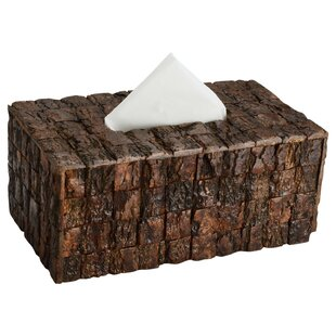 Millwood Pines Victor Wood Bark Tissue Box Cover