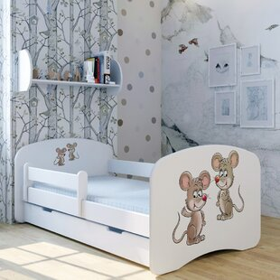 Mice Pimpy Und Brian II Bed With Mattress And Drawer By Zoomie Kids