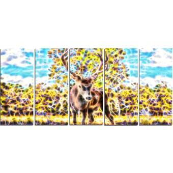 Designart Deer In The Woods Unframed Graphic Art Print On Metal Wayfair