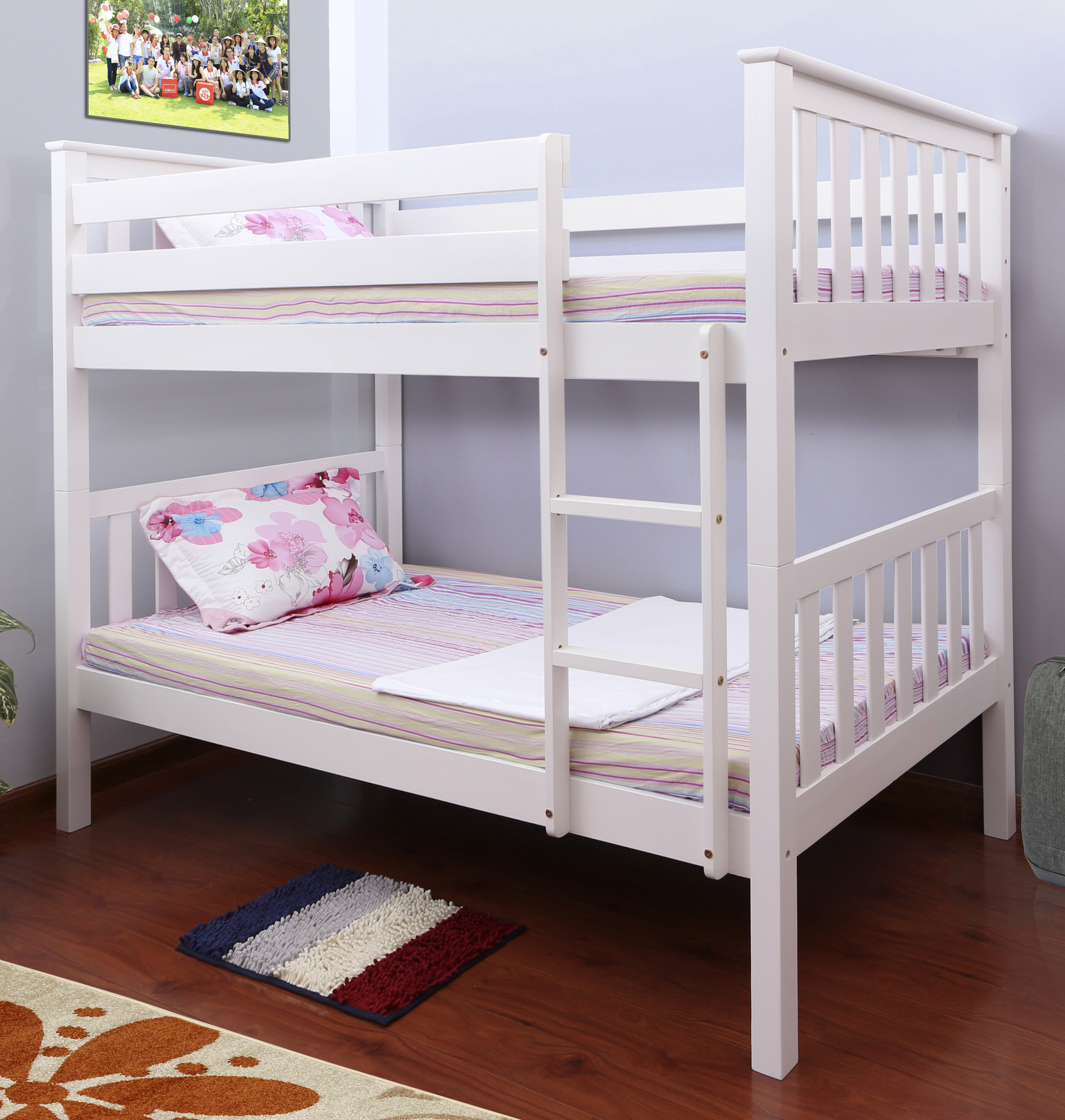 handmade built ceiling t bunks tshape low bargain shape beds triple bunk upstate style the in furniture