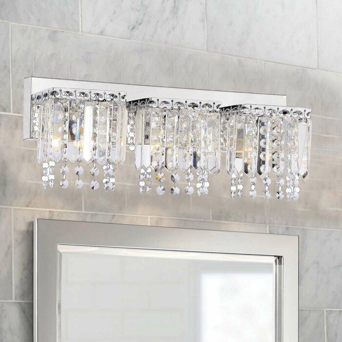 Mclemore Crystal Strand 3 Light Vanity