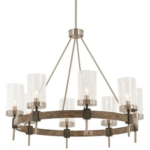 Minka Lavery Liska 8-Light Wagon Wheel Chandelier
