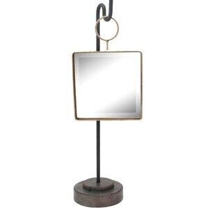 metal square mirror