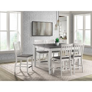 Jamison 7 Piece Counter Height Extendable Dining Set Picket House Furnishings