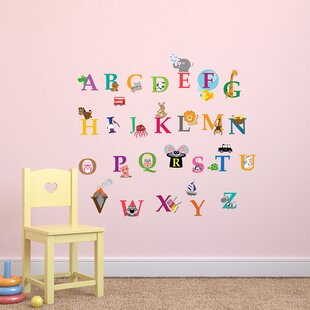 Alphabet Wall Decal Lowercase Abc Playroom Wall Decal Abc Etsy