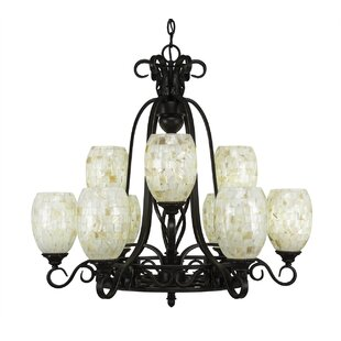 Astoria Grand Pierro 9-Light Shaded Chandelier