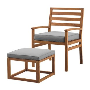 Stepp Patio Chair With Cushions And Ottoman By Highland Dunes