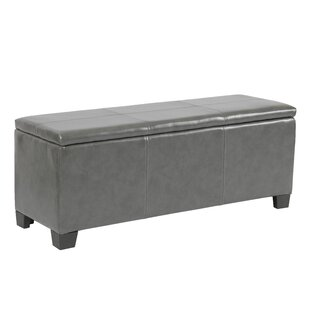 Compare prices Martinez-Wilson Faux Leather Storage Bench By Ebern Designs