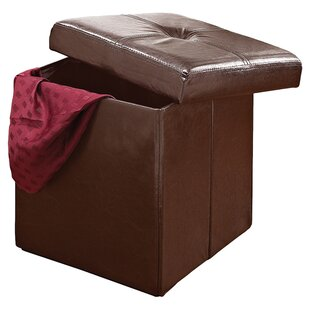 Andover Storage Ottoman in Chocolate