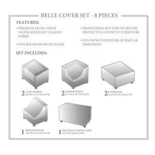 Fernando 8 Piece Patio Furniture Cover Set