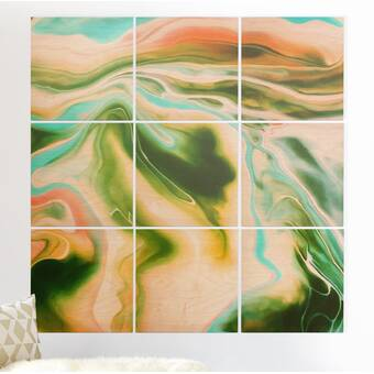 Designart Bauxite Mine With Lake 4 Piece Wall Art On Wrapped Canvas Set Wayfair
