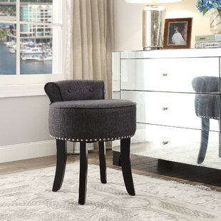 low back vanity stool  Low Back Vanity Stool | Wayfair