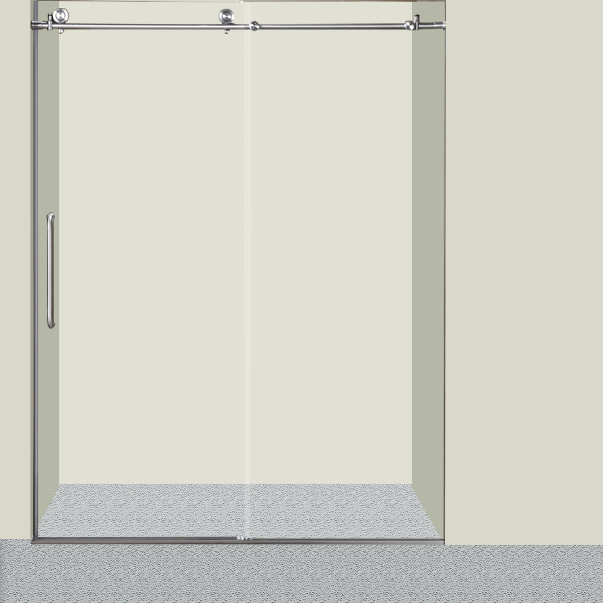 Glass 60 X 76 Single Sliding Frameless Shower Door
