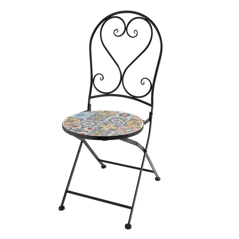 Wind & Weather Mosaic Folding Patio Dining Chair & Reviews ...