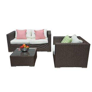 Smethwick 3 Piece Sofa Set with Cushions