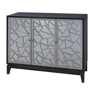 Nicklas Fractal Accent Three Door Mirrored Credenza by Wrought Studio