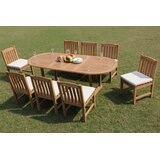 Riey 9 Piece Teak Dining Set