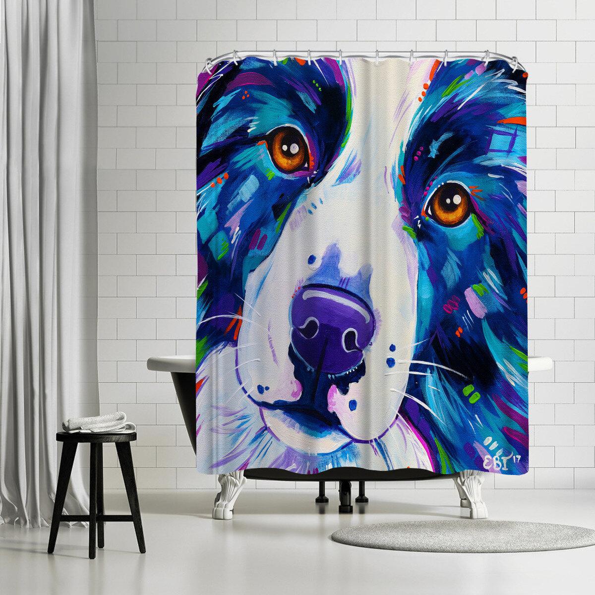 East Urban Home Eve Izzett Collie Single Shower Curtain Wayfair