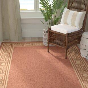 Amaryllis Rust/Sand Geometric Indoor/Outdoor Area Rug