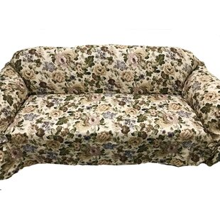 Romance Box Cushion Sofa Slipcover by August Grove