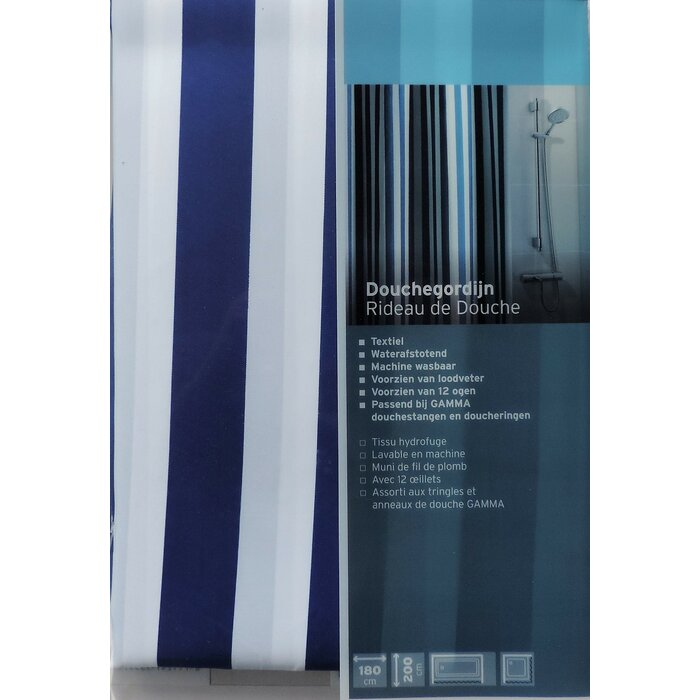 Loodveter 100 Gram.Fagin Stripes Single Shower Curtain
