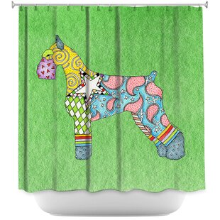 Giant Schnauzer Single Shower Curtain