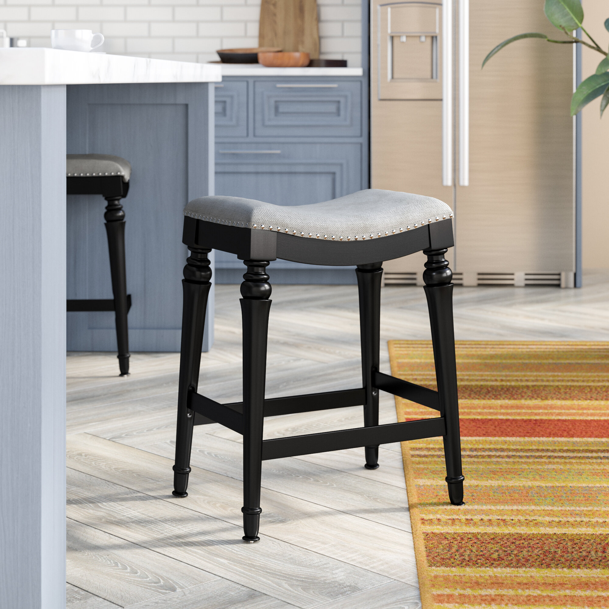 Coastal Farmhouse Western Solid Wood 25 Counter Stool Reviews Wayfair