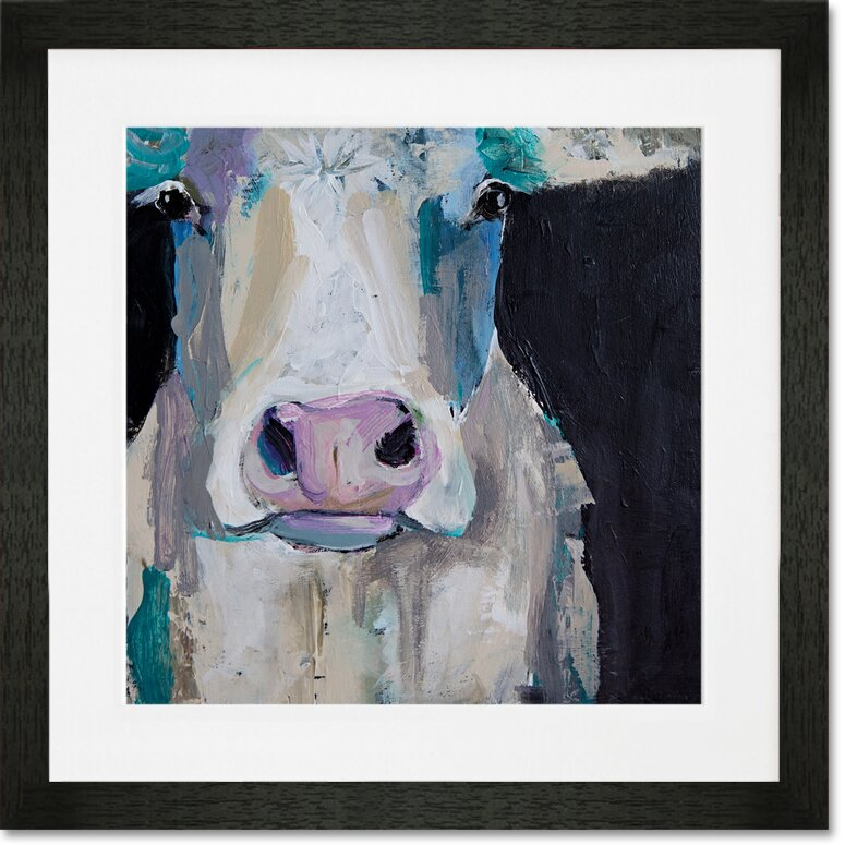 Greenbox Art Cow Close Up Framed Painting Print On Paper Wayfair