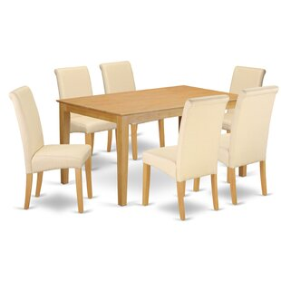 Brandi Kitchen Table 7 Piece Solid Wood Dining Set Winston Porter