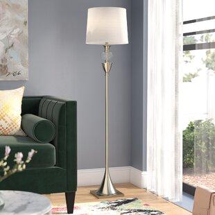 Reviews Maxime Crystal and Metal 61.5 LED Floor Lamp By Willa Arlo Interiors