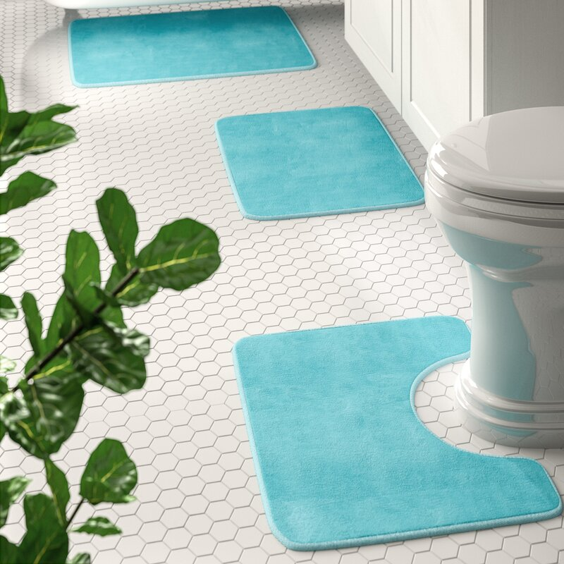 Blum Non Slip 3 Piece Bath Rug Set