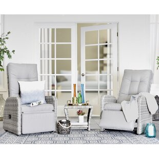 Elle Decor Vallauris 3 Piece Conversation Set with Cushions